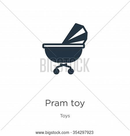 Pram Toy Icon Vector. Trendy Flat Pram Toy Icon From Toys Collection Isolated On White Background. V