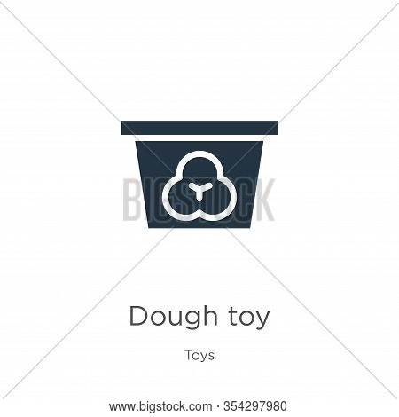 Dough Toy Icon Vector. Trendy Flat Dough Toy Icon From Toys Collection Isolated On White Background.