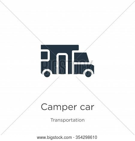 Camper Car Icon Vector. Trendy Flat Camper Car Icon From Transportation Collection Isolated On White