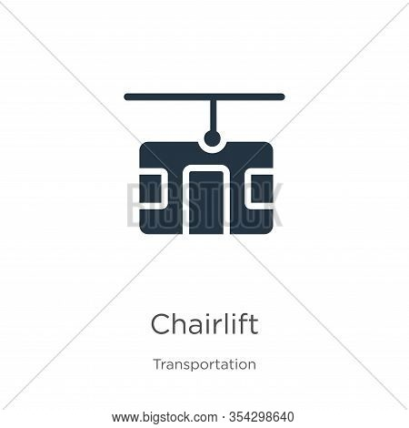 Chairlift Icon Vector. Trendy Flat Chairlift Icon From Transportation Collection Isolated On White B