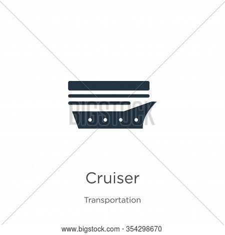 Cruiser Icon Vector. Trendy Flat Cruiser Icon From Transportation Collection Isolated On White Backg