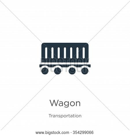 Wagon Icon Vector. Trendy Flat Wagon Icon From Transport Aytan Collection Isolated On White Backgrou