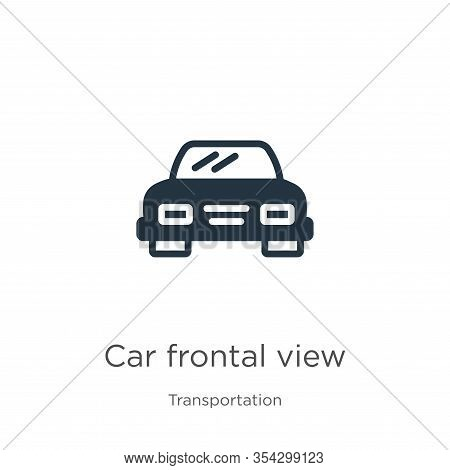Car Frontal View Icon Vector. Trendy Flat Car Frontal View Icon From Transport Aytan Collection Isol