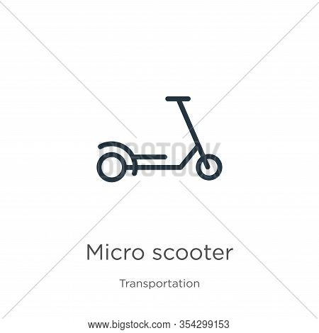 Micro Scooter Icon Vector. Trendy Flat Micro Scooter Icon From Transport Aytan Collection Isolated O