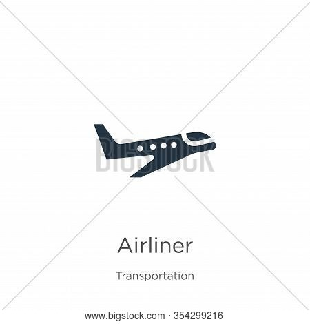 Airliner Icon Vector. Trendy Flat Airliner Icon From Transport Aytan Collection Isolated On White Ba