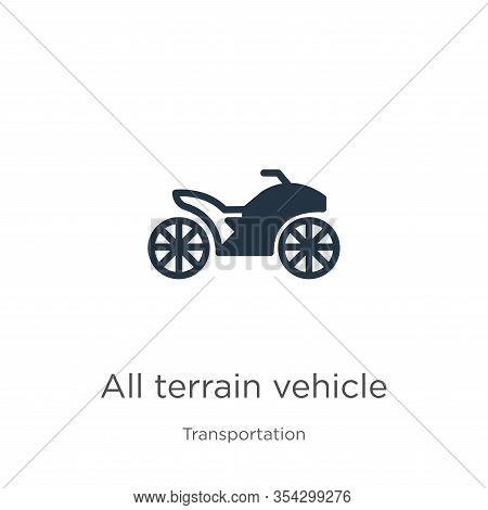 All Terrain Vehicle Icon Vector. Trendy Flat All Terrain Vehicle Icon From Transport Aytan Collectio