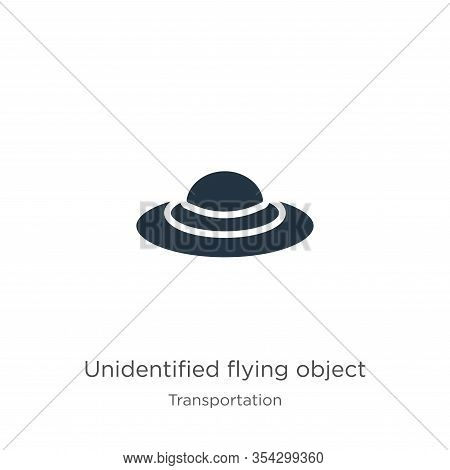 Unidentified Flying Object Icon Vector. Trendy Flat Unidentified Flying Object Icon From Transport A