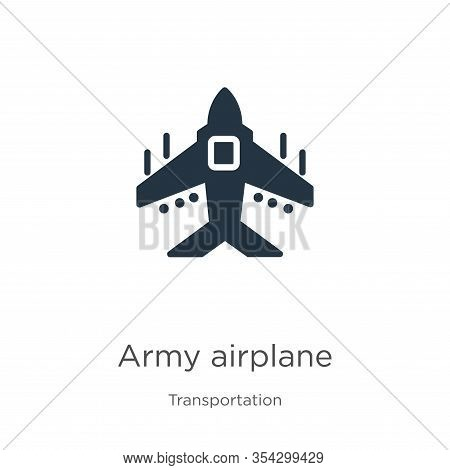 Army Airplane Icon Vector. Trendy Flat Army Airplane Icon From Transport Aytan Collection Isolated O