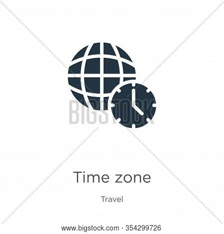 Time Zone Icon Vector. Trendy Flat Time Zone Icon From Travel Collection Isolated On White Backgroun