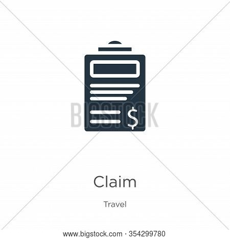 Claim Icon Vector. Trendy Flat Claim Icon From Travel Collection Isolated On White Background. Vecto