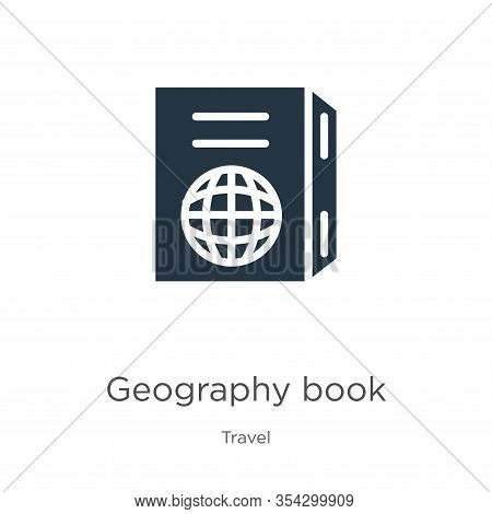 Geography Book Icon Vector. Trendy Flat Geography Book Icon From Travel Collection Isolated On White
