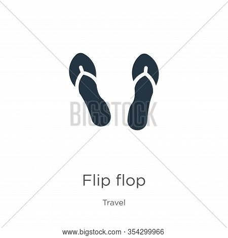 Flip Flop Icon Vector. Trendy Flat Flip Flop Icon From Travel Collection Isolated On White Backgroun