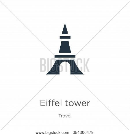 Eiffel Tower Icon Vector. Trendy Flat Eiffel Tower Icon From Travel Collection Isolated On White Bac
