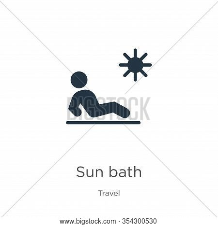 Sun Bath Icon Vector. Trendy Flat Sun Bath Icon From Travel Collection Isolated On White Background.