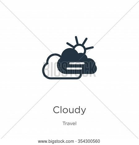 Cloudy Icon Vector. Trendy Flat Cloudy Icon From Travel Collection Isolated On White Background. Vec