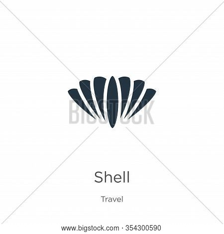 Shell Icon Vector. Trendy Flat Shell Icon From Travel Collection Isolated On White Background. Vecto