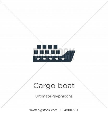 Cargo Boat Icon Vector. Trendy Flat Cargo Boat Icon From Ultimate Glyphicons Collection Isolated On