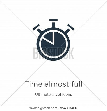 Time Almost Full Icon Vector. Trendy Flat Time Almost Full Icon From Ultimate Glyphicons Collection