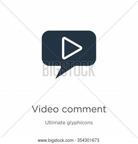 Video Comment Icon Vector. Trendy Flat Video Comment Icon From Ultimate Glyphicons Collection Isolat