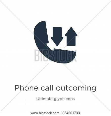 Phone Call Outcoming Icon Vector. Trendy Flat Phone Call Outcoming Icon From Ultimate Glyphicons Col