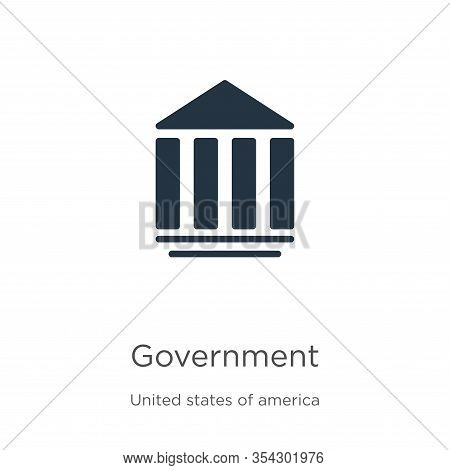 Government Icon Vector. Trendy Flat Government Icon From United States Of America Collection Isolate