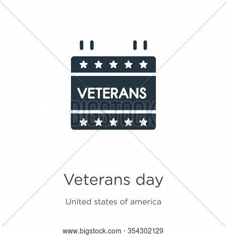 Veterans Day Icon Vector. Trendy Flat Veterans Day Icon From United States Of America Collection Iso