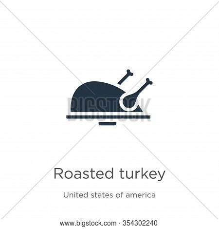 Roasted Turkey Icon Vector. Trendy Flat Roasted Turkey Icon From United States Of America Collection