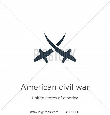 American Civil War Icon Vector. Trendy Flat American Civil War Icon From United States Of America Co