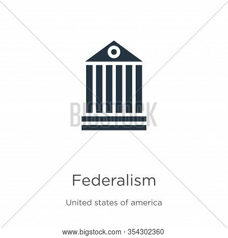 Federalism Icon Vector. Trendy Flat Federalism Icon From United States Of America Collection Isolate