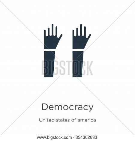 Democracy Icon Vector. Trendy Flat Democracy Icon From United States Collection Isolated On White Ba