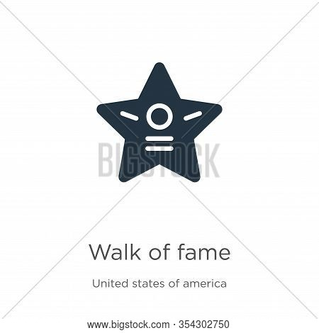 Walk Of Fame Icon Vector. Trendy Flat Walk Of Fame Icon From United States Collection Isolated On Wh