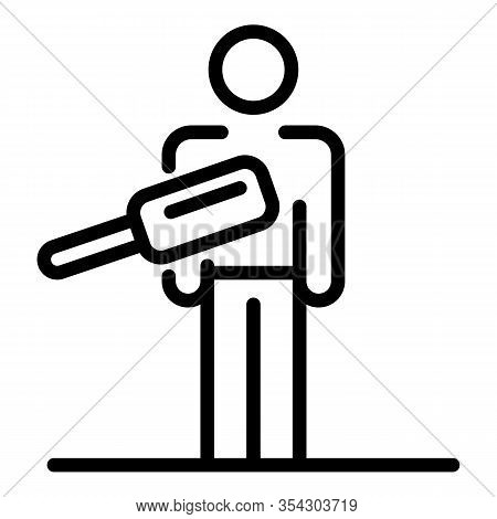 Scan Airport Person Icon. Outline Scan Airport Person Vector Icon For Web Design Isolated On White B