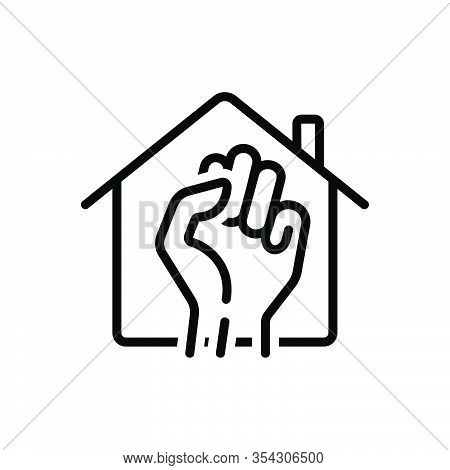 Black Line Icon For Occupy Take Acquire Seize-on Clutch Monopolize Rent-house House