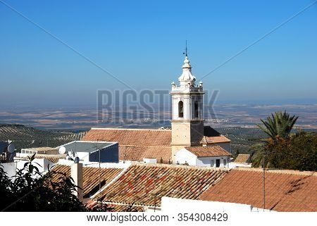 San Sebastian Parish Church (iglesia Parroquial De San Sebastian) With View Over Rooftops Towards Co