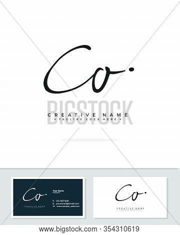 C O Co Initial Logo Signature Vector. Handwriting Concept Logo.