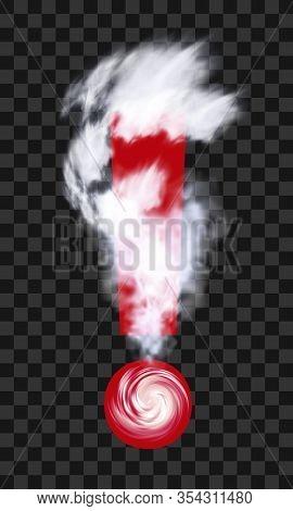 Hurricane Typhoon Tornado Storm. Climate Warning Logo. Cyclone Weather Forecast Logotype. Clouds Swi