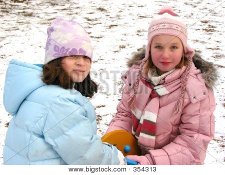 Children Play Winter