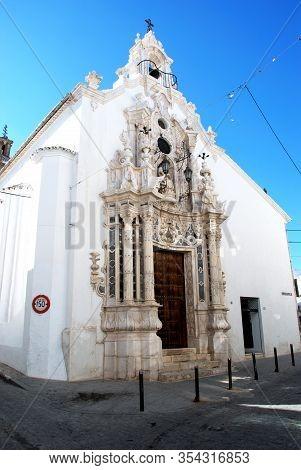Estepa, Spain - November 13, 2008 - Front View Of Carmen Church (iglesia Del Carmen), Estepa, Spain