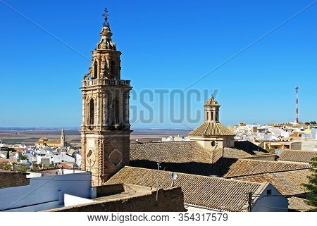 Osuna, Spain - November 13, 2008 - Elevated View Of Mercy Church And Tower (iglesia Y Torre De La Me