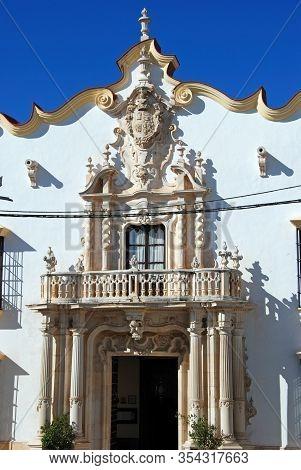 Osuna, Spain - November 13, 2008 - Entrance To The Marques Gomera Palace (palacio Del Marques De La