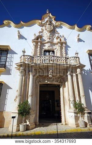 Osuna, Spain - November 13, 2008 - Marques Gomera Palace (palacio Del Marques De La Gomera), Osuna,