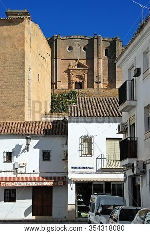 Osuna, Spain - November 13, 2008 - View From Lower Town Towards Santa Maria Church On The Hill (igle