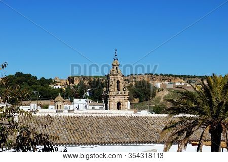 Osuna, Spain - November 13, 2008 - View Of Mercy Tower (torre De La Merced) With The Monastery (mona