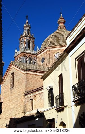 Ecija, Spain - November 13, 2008 - View Of Santa Maria Church (parroquia De Santa Maria) In The Town
