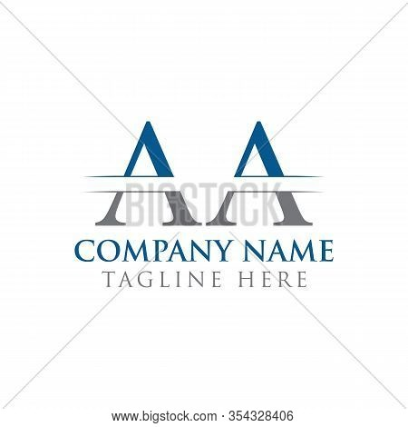Initial Aa Letter Logo With Creative Modern Business Typography Vector Template. Creative Abstract L