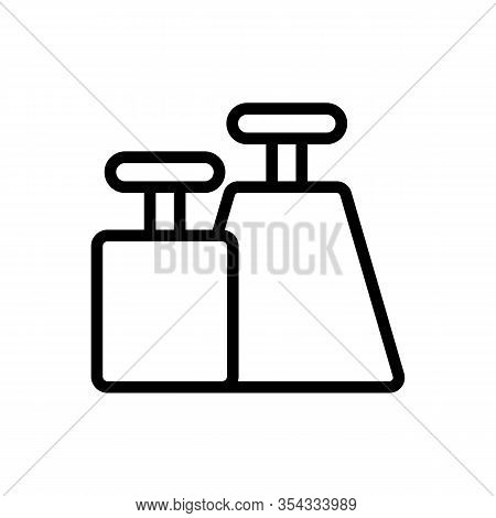 Weighty Icon Vector. Thin Line Sign. Isolated Contour Symbol Illustration