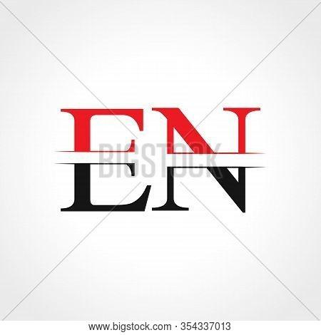 Initial En Letter Linked Logo Business Vector Template. Creative Letter En Logo Design