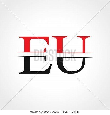 Initial Eu Letter Linked Logo Business Vector Template. Creative Letter Eu Logo Design