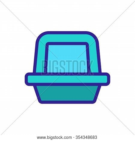 Pet Litter Icon Vector. Thin Line Sign. Isolated Contour Symbol Illustration