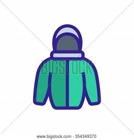 Warm Jacket Icon Vector. Thin Line Sign. Isolated Contour Symbol Illustration